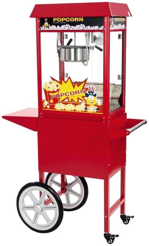 Royal Catering Machine à Pop-Corn Professionnelle avec Chariot