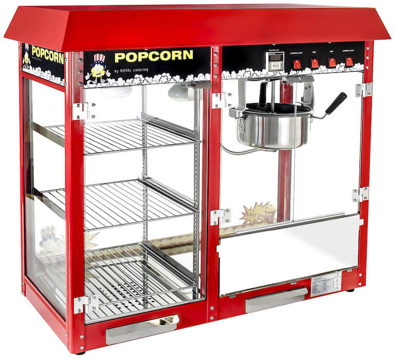 Royal Catering Machine à Pop-Corn Professionnelle avec Compartiment Chauffant