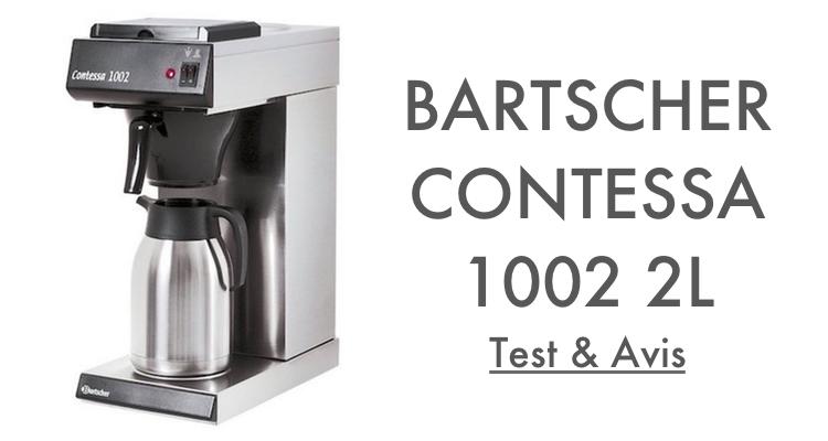 Test Avis Bartscher Contessa 1002 2L Machine à Café Professionnelle